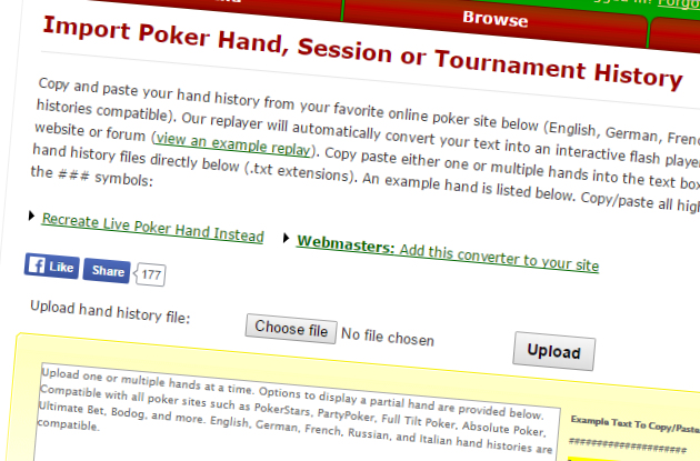 Poker Hand Replays