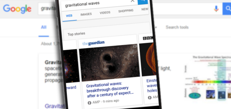 Accelerated Mobile Pages in Search Results