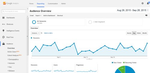 Access website data in Google Analytics