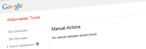 Checking Manual Actions in Google Webmaster Tools